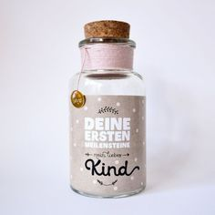 Flaschenpost Deine ersten Meilensteine pink