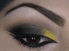 makeup tutorial  a gray smokey eye with a hint of yellow; Just gorgeous!