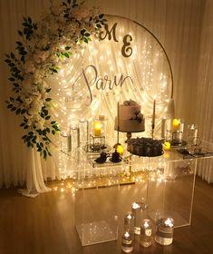 Wedding Stage Backdrop, Wedding Stage Decorations, Engagement Decorations, Backdrop Decorations, Bridal Shower Decorations, Desi Wedding Decor, Rustic Wedding, Birthday Balloon Decorations, Partys