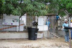 Fachada Casa de la Cultura de Santa Lucía en rehabilitación