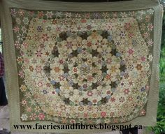 Faeries and Fibres: The Godstone Grannies hexagon quilt - attaching a ...