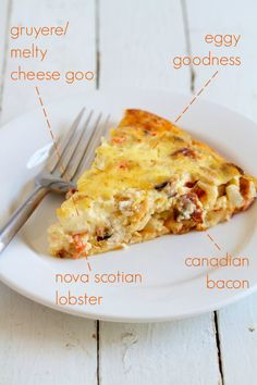 movita beaucoup | lobster, bacon and gruyère crustless quiche…