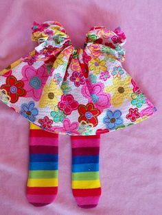 Waldorf doll  dress fits 10 doll 2 pc Dress and by reggiesdolls, $18.00