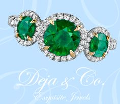 Do you prefer green?  The same beautiful ring is available with three vivid Tsavorite Garnets!