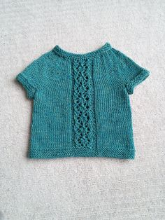Ravelry: Turquoise's Baby top Pattern: Diamond Panel Pullover by Amy Grace