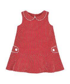 Red Spot Jacquard Dress