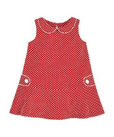 Red Spot Jacquard Dress