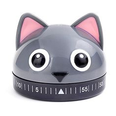 This handy Kitchen Timer from Kikkerland offers fun and functionality while you cook. Features a cute kitty face design.
