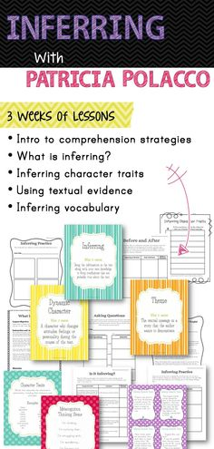 Inferring unit using Patrica Polacco books. Around three weeks of mini-lessons and activities.