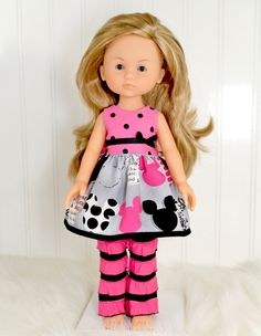 Corolle Les Cheries Doll Clothes Dress Heart for Heart doll clothes.