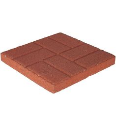 null 16 in. x 16 in. Red Brickface Concrete Step Stone