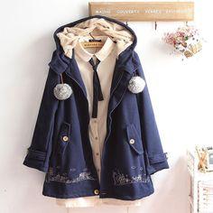 "Harajuku fashion woolen hoodie coat SE8991   Coupon code ""cutekawaii"" for 10% off"