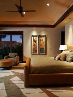 Home Decor Tropical Bedroom. ベッドルームのインテリアコーディネイト実例