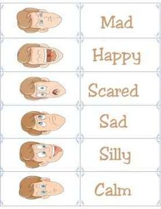 Use these free printable flashcards to help your child understand basic emotions. A valuable tool for helping to build relationship skills in children. Emotions Activities, Montessori Activities, Language Activities, Preschool Activities, Colors And Emotions, Feelings And Emotions, Preschool Themes, Preschool Lessons, Free Printable Cards