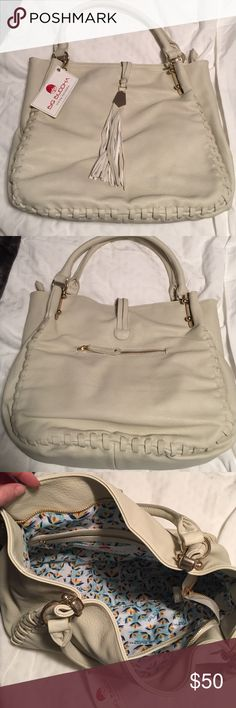 """Big Buddha shoulder bag New with tags large Big Buddha shoulder bag """"bone"""" color (off white). Dimensions: 14 in long x 12 in tall x 7 in wide. Smoke free home! Big Buddha Bags Shoulder Bags"""