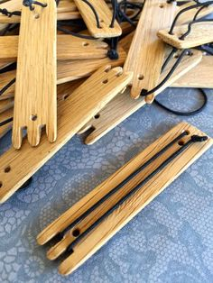Bobbin slides - used to keep lace bobbins tidy and in the correct order when…