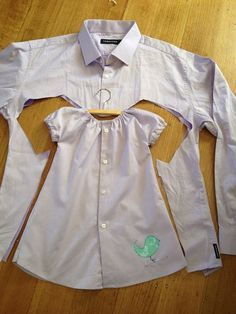 Ein altes Hemd lässt sich einfach in ein süßes Kleid verwandeln von Alldaychic