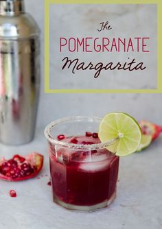 The Pomegranate Margarita | So...Let's Hang Out  Made from scratch with fresh ingredients! No added sugar! YAY!