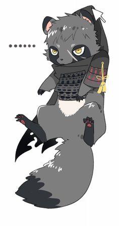 Doudanuki as a tanuki! Touken Ranbu, Kawaii Art, Kawaii Anime, Evil Villains, Multimedia Artist, Anime Animals, Cute Chibi, Manga, Mythical Creatures