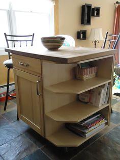 IKEA Hackers: Island - base cabinet + base shelves + butcher block counter leftovers