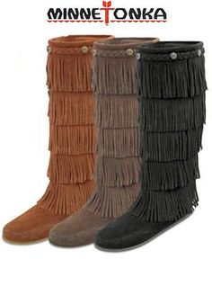 Minnetonka Fringe Boots - bought these in black today!! P.S Momma.. I want these for Christmas!