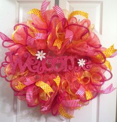 Measures approximately 24x 24. This wreath is ready to ship!! Feel free to ask any questions.