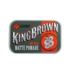 King Brown - Matte Clay Pomade 2.5oz