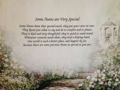 Personalized Aunt Art Print with Poem by inspirationsbypam. Great gift for the special Aunt in your life. See more at www.etsy.com/shop/inspirationsbypam. Save 10% with code: Pinterest10 thru 12-31-16.