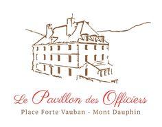 Voici le nouveau logo de la résidence Le Pavillon des Officiers Place forte de Mont-Dauphin #fabiodesadesign #graphisme www.fabiodesa.design