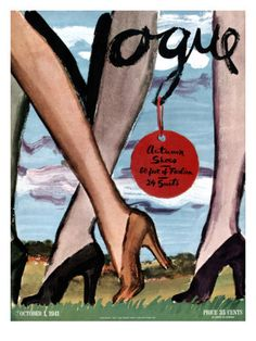 "October 1941 | Vogue Cover by Carl ""Eric"" Erickson"