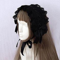 zwart lint en kanten rand gothic lolita hoofdband 2246852 2016 – €19.59