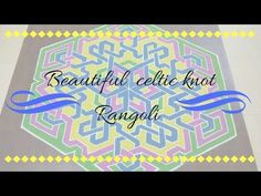 """A Celtic knot rangoli with step by step demo.. Demo video is in my you tube channel.. . . For more such arts.. visit my YouTube channel """"Brindhavan-An Art Garden"""" (Link in bio) If you like my videos.. Like 👍❤️. Share 🔁👥 Subscribe 🔜📬📽️ . . . .  #painting #paintingart #art #design #drawing #sketch#kolam #rangoli #hexagon#stripes  #celtics #celticknot #celticknotkolam  #celticknotrangoli  #binder"""