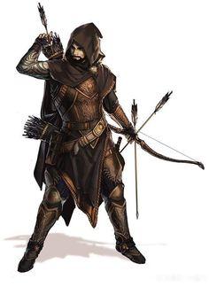 Half-Elf, ranger (gloomstalker) character art in 2019 рпг, ф Character Design Cartoon, Fantasy Character Design, Character Design Inspiration, Character Concept, Character Art, Character Creation, Ranger Dnd, Ranger Armor, Elf Ranger