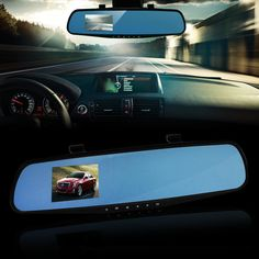 OKY Newest Car camera Car Dvr Blue Review Mirror Digital Video Recorder Auto Registrator Camcorder Full HD 720P Camera Car Dvrs