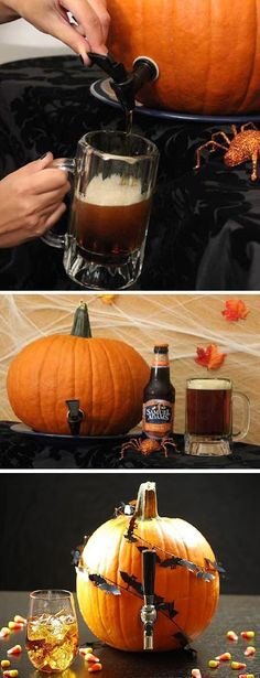 Make Your Own Pumpkin Keg. So doing this!