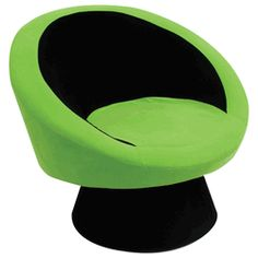 A favorite of tweens and teens, the #Lumisource saucer chair is as cool as it is comfortable! A popular pick for guys and gals, this black and green color combination is perfectly on trend. #chairs #furniture #dorms http://www.thefurnituredomain.com/chr-sauce-bk-gn.html