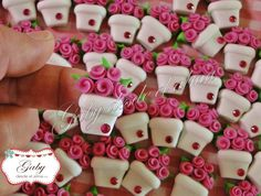 What about pots of flowers on top of needle jars? Polymer Clay Magnet, Clay Magnets, Polymer Clay Dolls, Polymer Clay Flowers, Polymer Clay Miniatures, Polymer Clay Projects, Polymer Clay Charms, Polymer Clay Jewelry, Clay Crafts