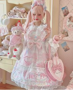 Pastel Goth Fashion, Quirky Fashion, Lolita Fashion, Cute Fashion, Fashion Styles, Fashion Outfits, Alternative Outfits, Alternative Fashion, Pretty Outfits
