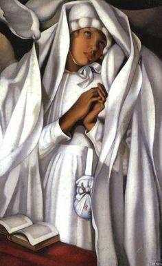 Tamara de Lempicka - The Communicant, 1928