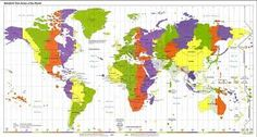 world time zones for kids - Google Search Time Zone Map, World Time Zones, Printable Maps, Printables, Free Printable, Giant World Map, Standard Time Zones, World Map Wallpaper, North America Map