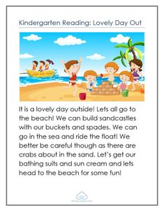 Reading worksheets on lovely day Reading Comprehension For Kids, Reading Stories, Reading Passages, Kids Reading, Reading Skills, Stories For Kids, Reading Worksheets, School Worksheets, Primary School