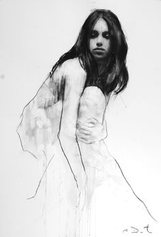 'Holly' by Mark Demsteader Mark Demsteader, Figure Painting, Painting & Drawing, Illustration Techniques, Charcoal Art, Art Sketches, Art Drawings, Art Studies, Life Drawing