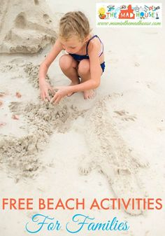 Free beach activities for families.  Have fab free fun at the beach with kids with our super fun activities to help make memories that will last a lifetime.  Make summer fun for all the family with simple activities to do at the beach that are frugal and  everyone will enjoy.
