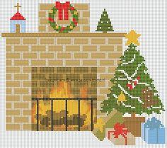 Christmasholly & interior Xmas designs stitchingcharts kerst borduurpatronen Kerstmis kersthulst interieur