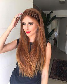 Mari Maria Makeup em ; Arco de Trança #Braid #long hair ❤