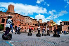 Get the true essence of the beauty of Rome by segway and witness the city of amazing architecture.