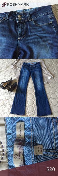 """Paige premium denim size 27 Hidden hills Paige jeans in awesome condition. Can't remember the inseam but I'm 5'5"""" and it's the perfect length. Paige Jeans Jeans"""