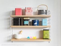 Image result for strings hylly desk Shelves, Desk, Image, Home Decor, Shelving, Desktop, Decoration Home, Room Decor, Shelf