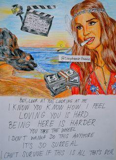 Lana Del Rey #LDR #art  #High_By_The_Beach