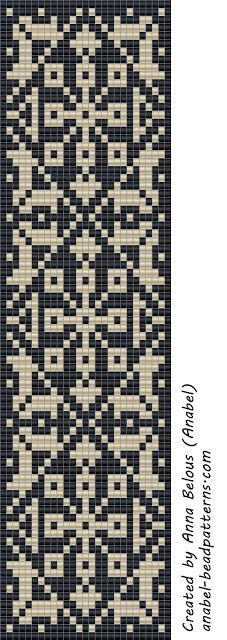 Scheme of the two-color bracelet - Weaving / Tapestry weaving